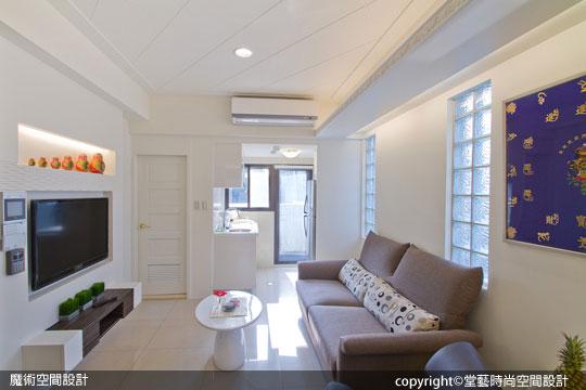 [魔術空間設計]室內設計作品-堂藝時尚空間設計-謝俊安 -9坪菱格紋小套房裝潢 50萬有找