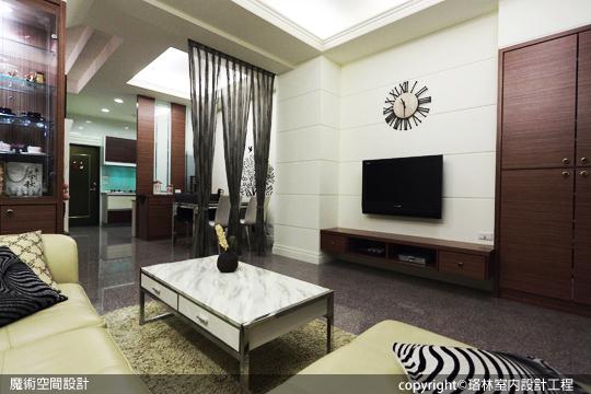 [魔術空間設計]室內設計作品-珞林室內設計工程-黃進部-現代時尚別墅輕彩繪風格 新家裝潢分享喜樂