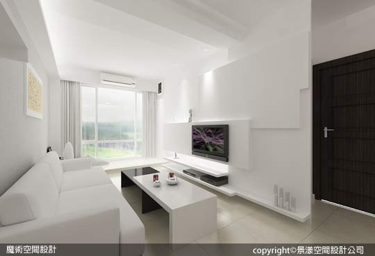 [魔術空間設計]室內設計作品-景漾空間設計公司-許沛濬-現代簡約風 體驗純白、品味絕對的夢幻白色窩居