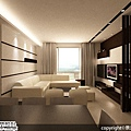 [魔術空間設計]室內設計作品-景漾空間設計公司-許沛濬 -現代簡約風格 對比色彩、簡單線條,勾勒品味的層次與內涵