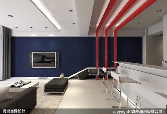 [魔術空間設計]室內設計作品-語承室內設計公司-陳子寯-現代簡約精粹空間 裝潢預算80萬有找