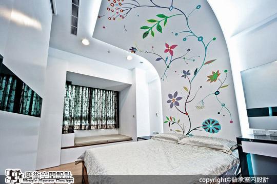 [魔術空間設計]室內設計作品-語承室內設計公司-陳子寯-低調奢華個性圖騰設計 點亮鮮麗生活表情