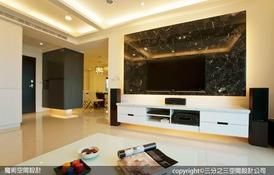 [魔術空間設計]室內設計作品-三分之三空間設計公司-黃郁隆-首購族現代時尚裝潢術 撤小房放大空間