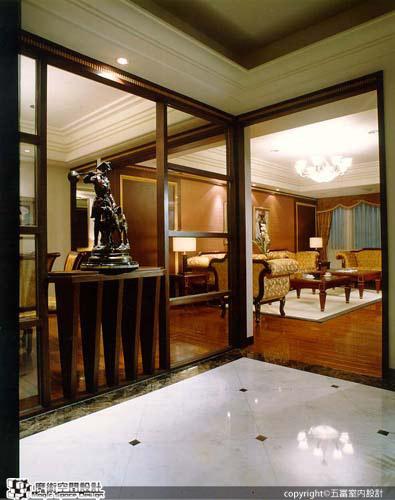 [魔術空間設計]室內設計作品-五富室內設計-郭明福-英式古典風格  人文設計,讓您親炙皇室品味的優雅