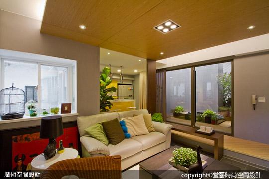 [魔術空間設計]室內設計作品-堂藝時尚空間設計-謝俊安 -現代休閒設計風格不贅飾 藝術家的居家王道