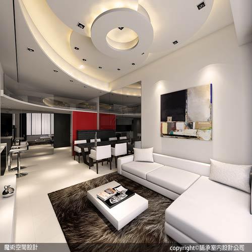 [魔術空間設計]室內設計作品-語承室內設計公司-陳子寯-20坪挑高小豪宅住5人 現代時尚夾層設計超摩登