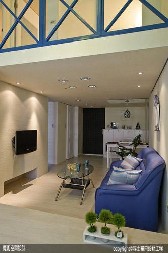 [魔術空間設計]室內設計作品-雅士室內設計工程-洪儷芹-10坪地中海風格樓中樓裝潢 三人行好寬敞