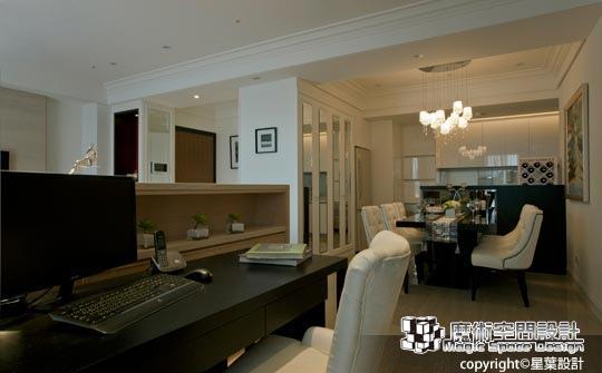 [魔術空間設計]室內設計作品-星葉設計-林峰安-現代手法詮釋古典風 築清新雅緻的居家