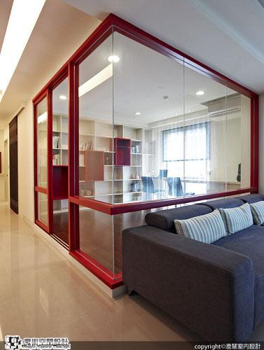 [魔術空間設計]室內設計作品-澄慧設計-解博淳-經典品味。時尚酷黑VS個性靚紅的精品住宅