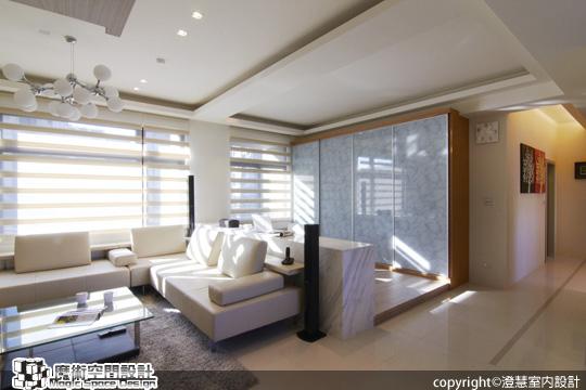 [魔術空間設計]室內設計作品-澄慧設計-解博淳-光感好宅。鬆綁格局 還原了輕盈白淨的空氣感