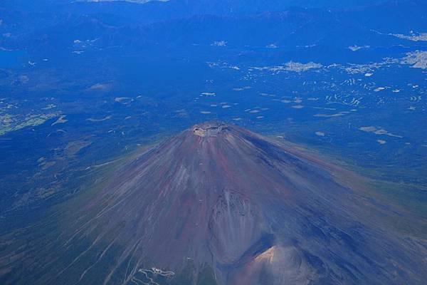 沒有雪的富士山