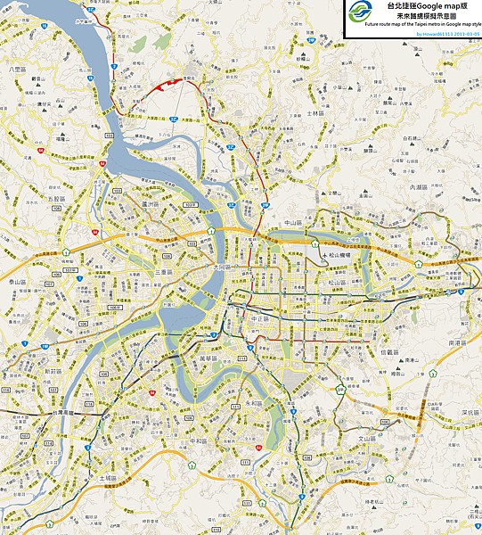Taipei MRT future on google map.png