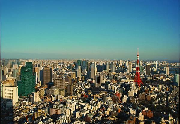東京市中心遠眺
