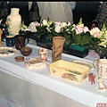 告別式會場展出母親的陶藝