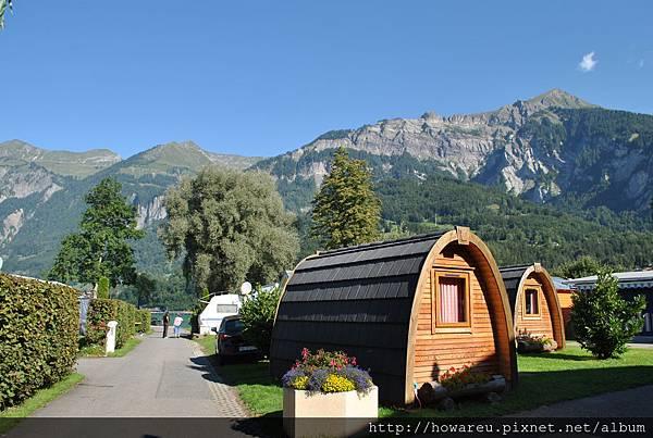 露營區的小木屋