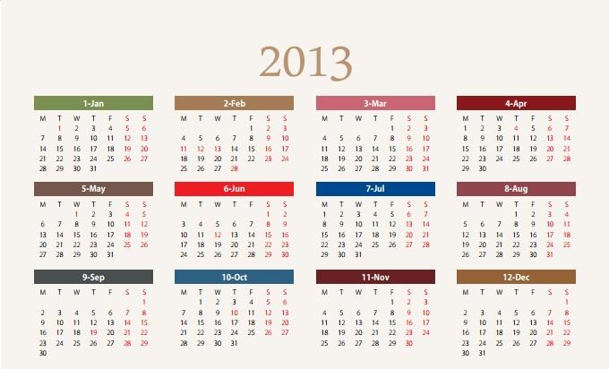 12月小桌曆