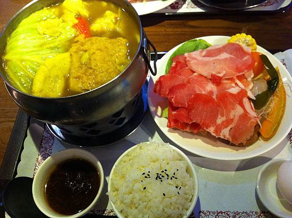 咖哩豬肉鍋全景
