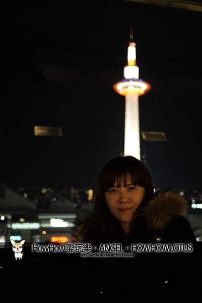 在京都車站上面的觀景台