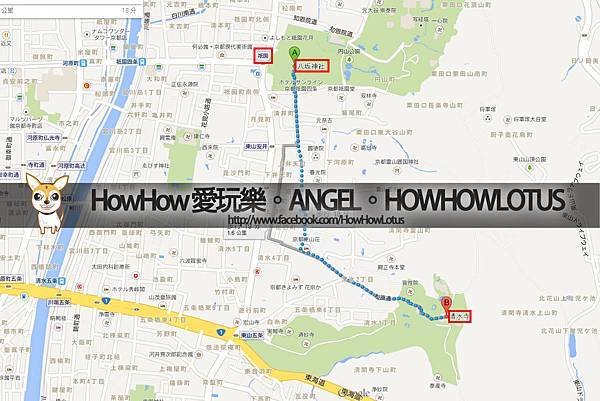 祉園→八阪神社→清水寺