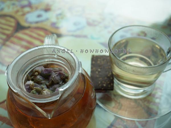 寶貝的玫瑰茶set