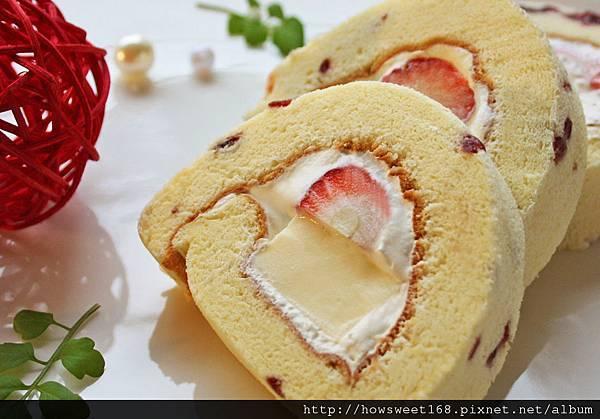 草莓奶凍捲