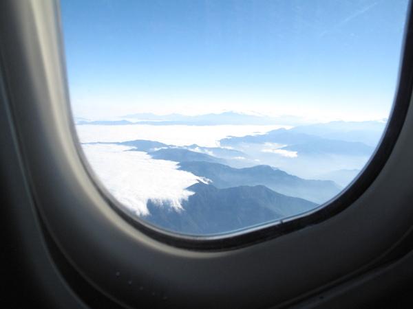 飛機上一景