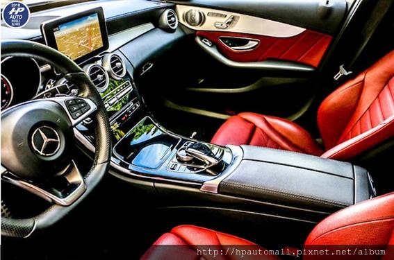美貿易車商推薦HP高雄車庫代購BENZ C300 紅色皮椅最帥氣