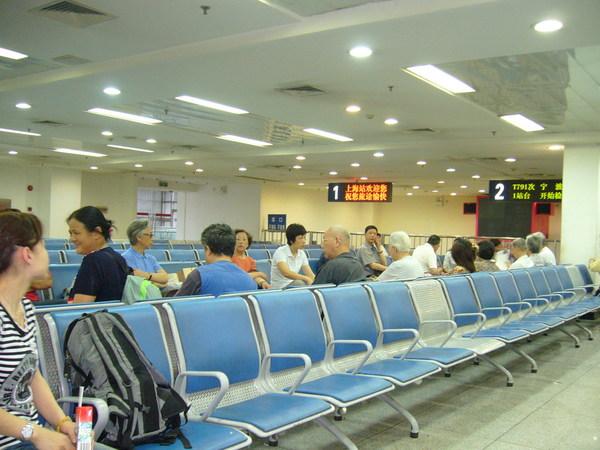 上海火車站候車室