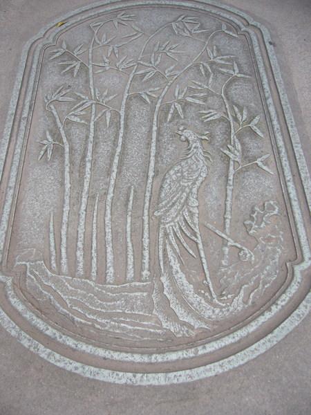 蔣母墓的石刻