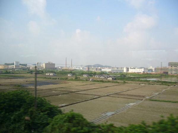 珠三角鐵路沿線還是有農田喔