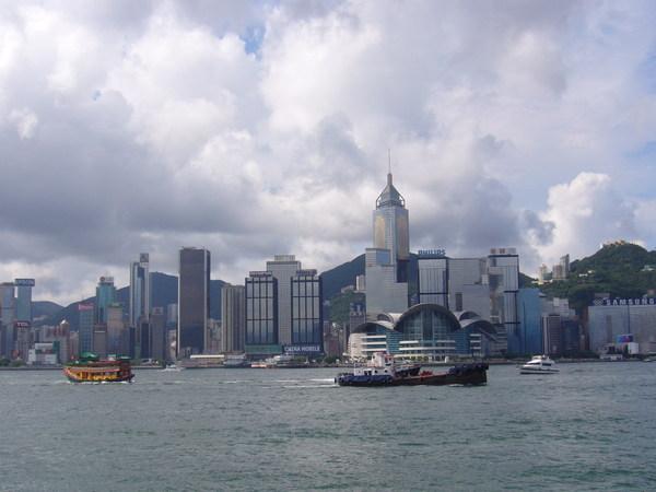 香港地標--維多利亞港天際線