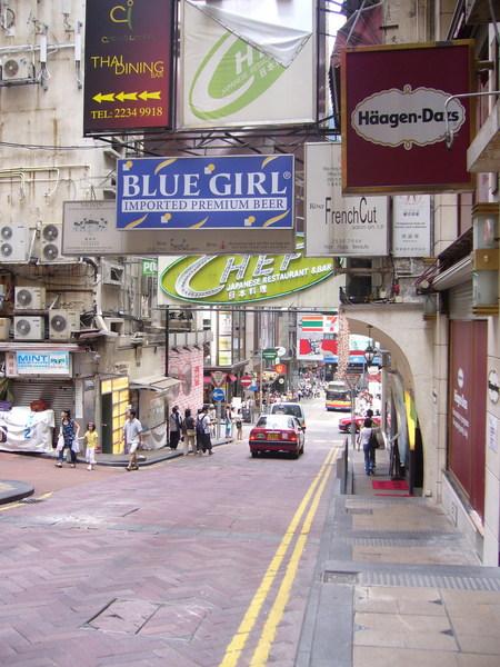 香港的招牌做真大