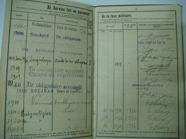 瑞士的軍籍簿