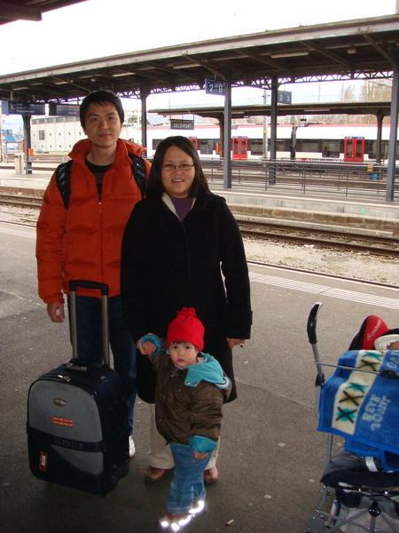 要離開Jura了,在Delemont車站
