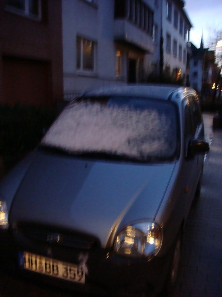 昨天下了三場冰以後