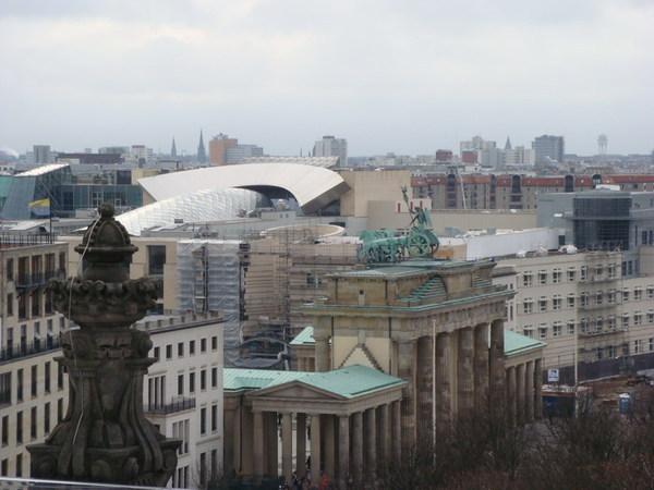 從觀景台看布蘭登堡門