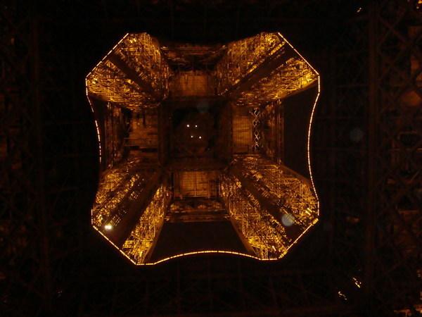 由地上看艾菲爾鐵塔