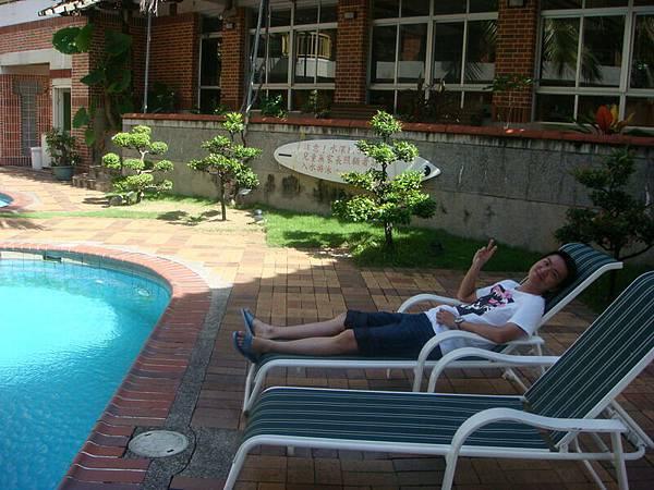 我們住的飯店的泳池