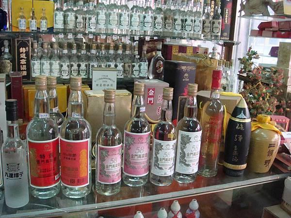 金門本地銷售的酒是紅標