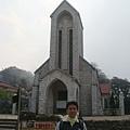 我在沙巴教堂前
