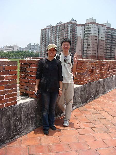 我和師母在東門城垛