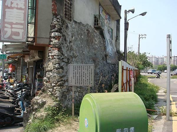 看到了左營舊城的城壁