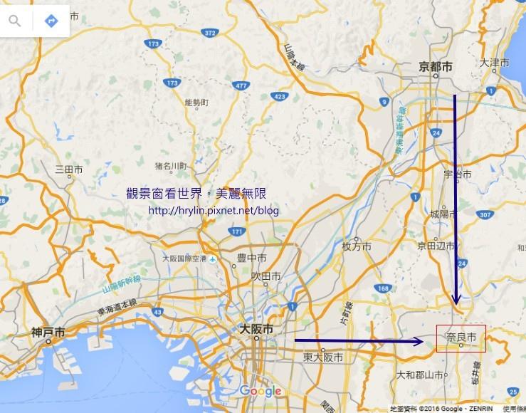 osaka_nara_map