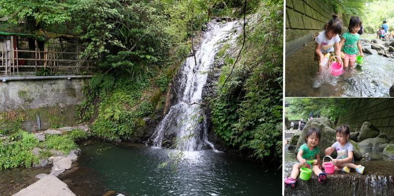 瀑布、清澈小溪、樹林包覆,夏日山林間的戲水秘境