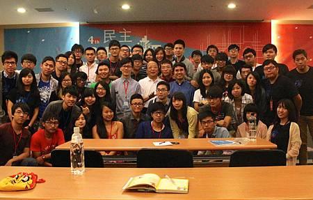 馬胡集合中台灣國民黨青年團政治實踐營開講