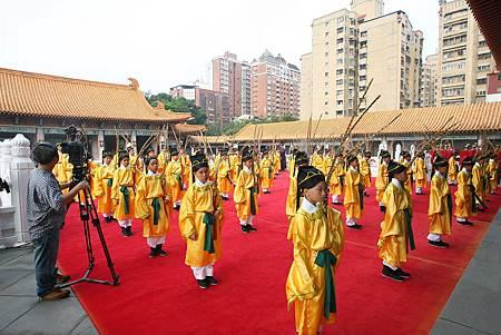 臺中祭孔大典依傳統古禮進行場面隆重
