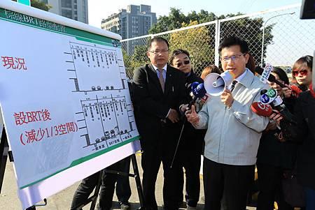 林市長勘查BRT棕線暫緩設計並重新評估