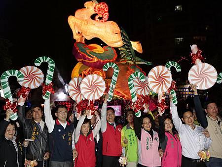 豐原率先亮燈市長林佳龍宣布台灣燈會開跑