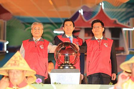 吉羊閃耀納百福台灣燈會璀璨開燈