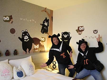 梨山賓館推黑熊主題房